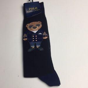 Polo Bear Captain Graphic Crew Socks